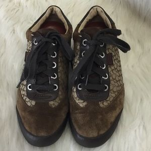 COACH signature C suede MARCY sneakers brown